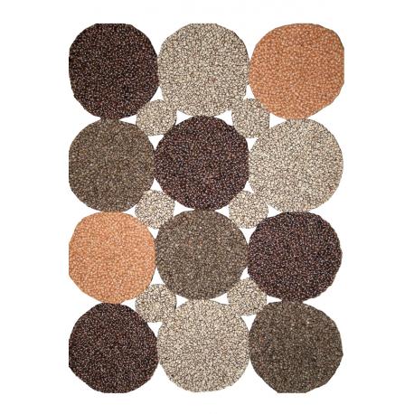 Tapis xonia patchwork tapis bouzoubaa - Tapis cuir patchwork ...